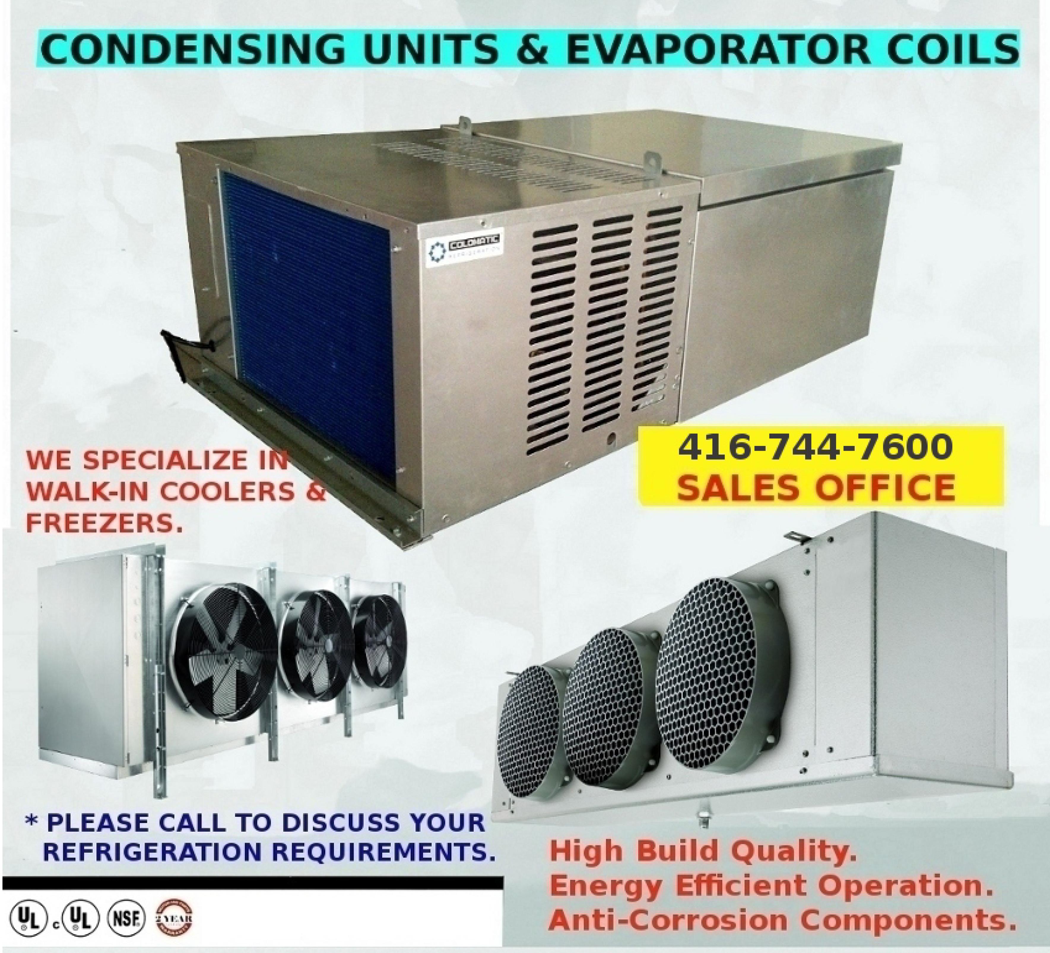 Condensing units & Evaporator Coils