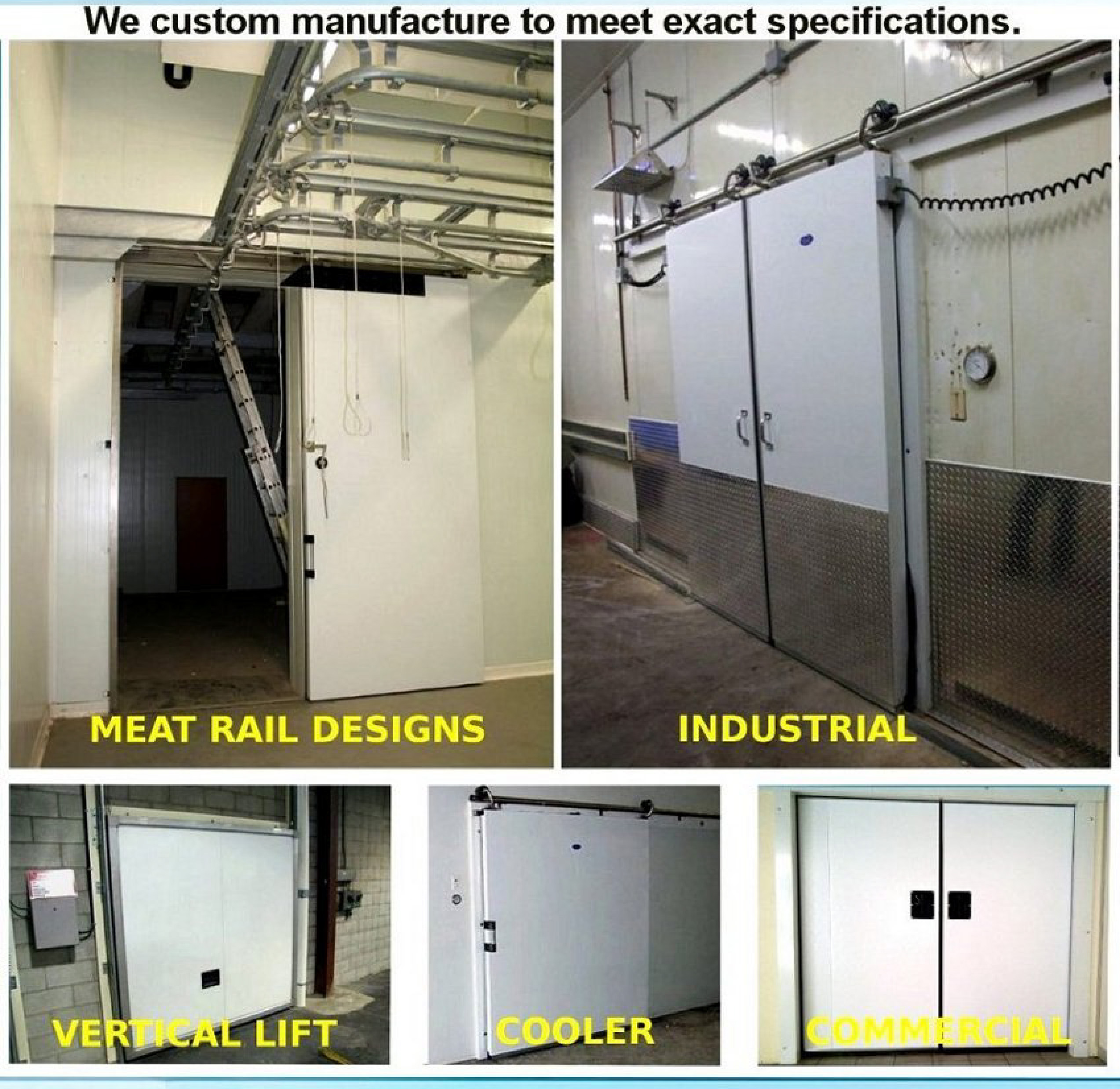 Custom Manufacture to meet exact specifications