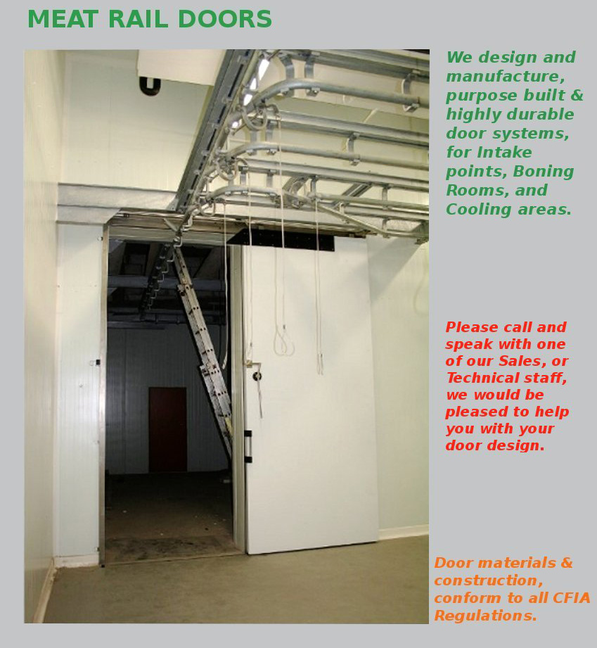 Meet -Rail Door & Meat-Rail Doors - Coldmatic - Insulated Panel \u0026 Door Systems